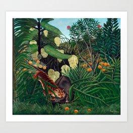 Henri Rousseau - Fight between a Tiger and a Buffalo Art Print