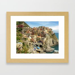 Manarola, Cinque Terre, Italy Framed Art Print