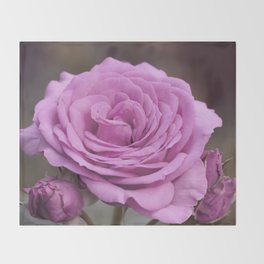 Light Lilac Pink Rose #1 #floral #art #society6 Throw Blanket