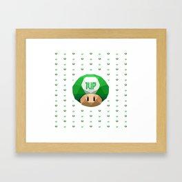 1up Shroom Framed Art Print