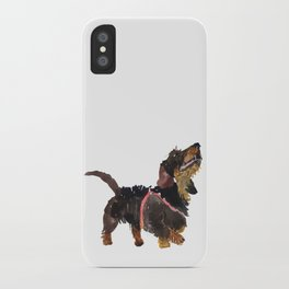 watercolor dog vol 9 dachshund iPhone Case