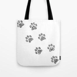 Cat tracks Tote Bag
