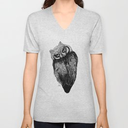 Scops Owl  Unisex V-Neck