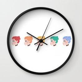 RGB GRRRL Wall Clock