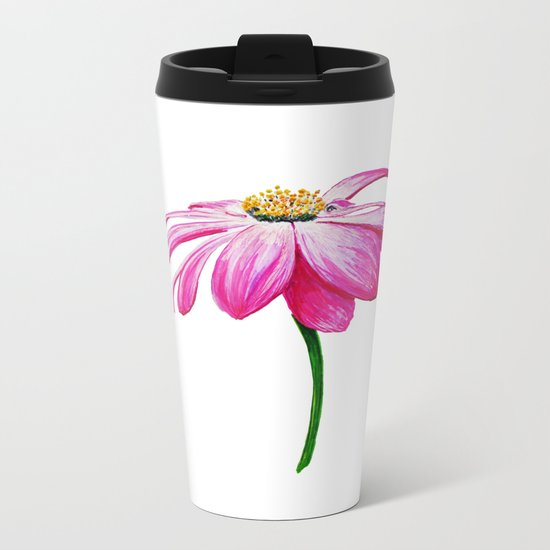 crimson flower petal and flown away Metal Travel Mug