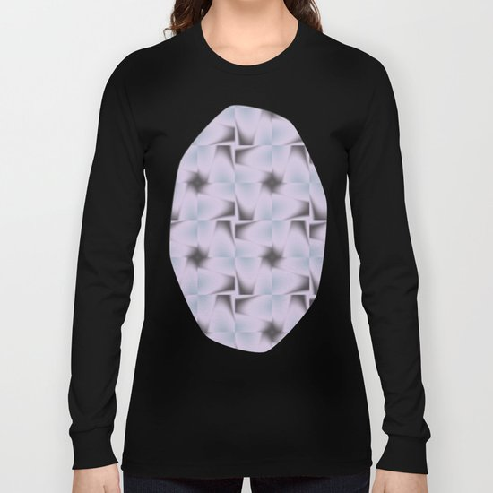 Origami Tiles Fractal in TPGY Long Sleeve T-shirt