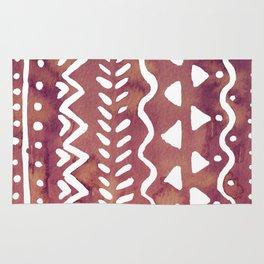 Loose boho chic pattern - purple brown Rug