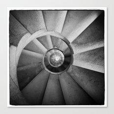 La Sagrada Familia Spiral Staircase Canvas Print
