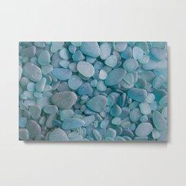 Japanese Sea Glass - Low Tide Blues II Metal Print
