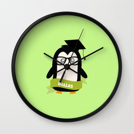 Penguin nerd from Dallas T-Shirt for all Ages Wall Clock
