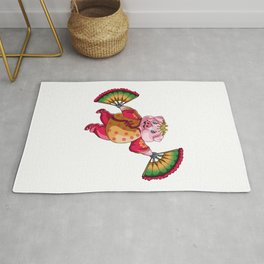 Dancing Chinese New Year Pig Rug