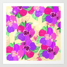 Cream Hibiscus Art Print