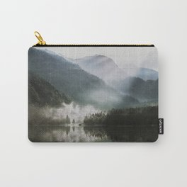 Dreamlike Morning at the Lake - Nature Forest Mountain Photography Carry-All Pouch