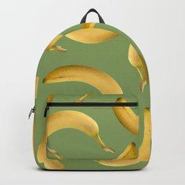 Bananas Pattern - green Backpack
