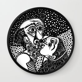 Picasso - The kiss Wall Clock