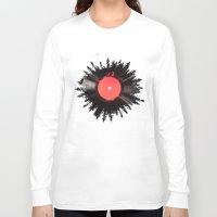 vinyl Long Sleeve T-shirts featuring The vinyl of my life by Robert Farkas