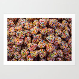 Confection of multiple colors. Candied birthday candies Art Print