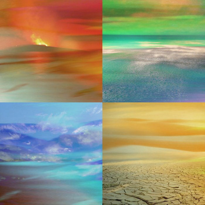 The Four Elements: Fire, Water, Air, Earth Comforters