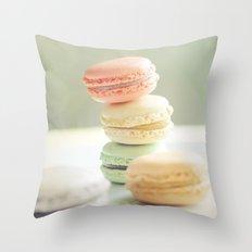 Pretty Macarons Throw Pillow