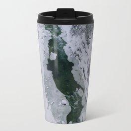 Frozen River Gorge in Vermont Travel Mug