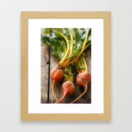 Rustic Golden Beets Framed Art Print