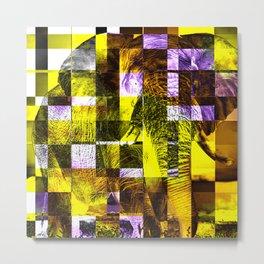 Cubist / Elephant Metal Print