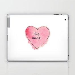 Watercolor BE MINE Heart Laptop & iPad Skin