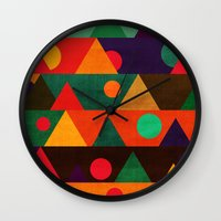 moon phase Wall Clocks featuring The moon phase by Picomodi