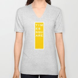 Times Square - NYC - Yellow Unisex V-Neck