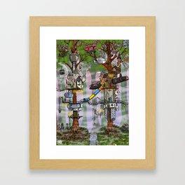 Modern Pixie Kingdom Framed Art Print