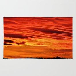 Flame Coloured Sunset Sky Rug