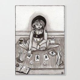 Tarot Reading Canvas Print