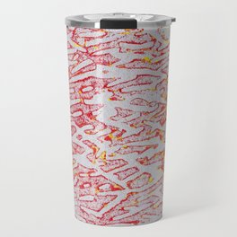 Brushed Red, Yellow, Silver Painting Travel Mug