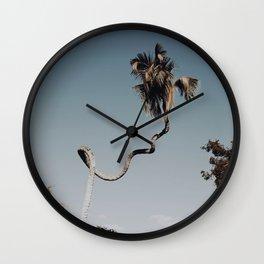 twisted palm tree / kailua-kana, hawaii Wall Clock