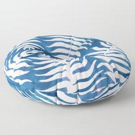 Caribean Blue Palms Floor Pillow
