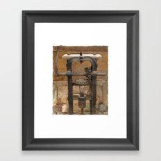 antique press Framed Art Print