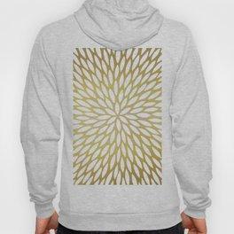 White Leaves on Gold Hoody