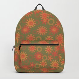 abstract pattern with suns Backpack