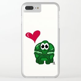 Turtle Macaron Clear iPhone Case