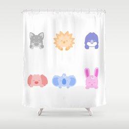 Cute Critter Gang Shower Curtain