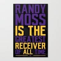 randy c Canvas Prints featuring Randy Moss by Couch Coaches