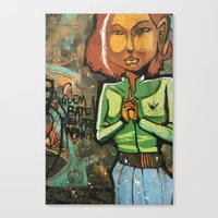 grafitti Canvas Prints featuring Grafitti by Fabiana Domingues