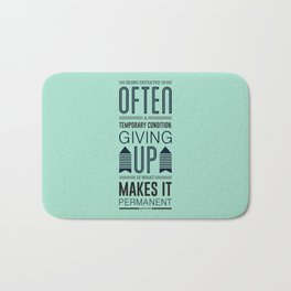 Lab No. 4 Being defeated is often a temporary condition Marilyn vos savant Quote poster Bath Mat
