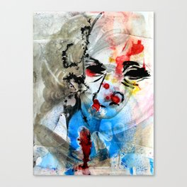The Face Of The Saint Canvas Print