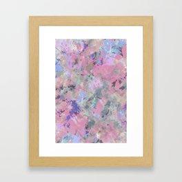 Pink Blush Abstract Framed Art Print