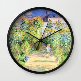 Monets Garden at Vetheuil Wall Clock