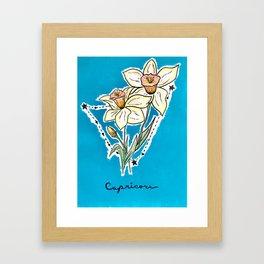 December Capricorn Framed Art Print