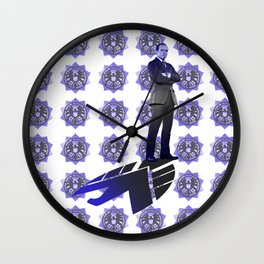 The New Director Works In The Shadows Wall Clock