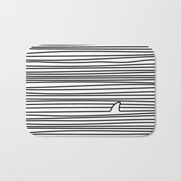 Minimal Line Drawing Simple Unique Shark Fin Gift Bath Mat