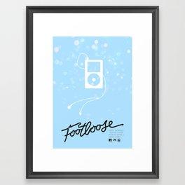 Footloose (2011) - minimal poster Framed Art Print